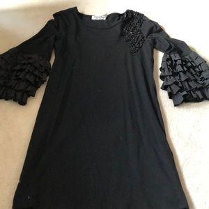 Ruffled and embellished dress!